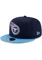 New Era Tennessee Titans Navy Blue Basic 9FIFTY Mens Snapback Hat