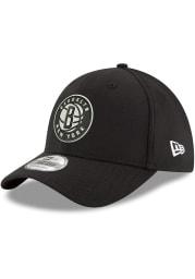 New Era Brooklyn Nets Mens Black Team Classic 39THIRTY Flex Hat