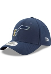 New Era Utah Jazz Mens Navy Blue Team Classic 39THIRTY Flex Hat