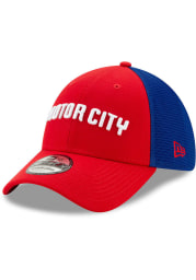 New Era Detroit Pistons Mens Red 2019 City Series 39THIRTY Flex Hat