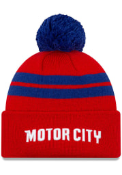 New Era Detroit Pistons Red 2019 City Series Knit Mens Knit Hat