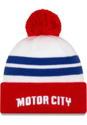 New Era Detroit Pistons White 2019 City Series Holiday Knit Mens Knit Hat
