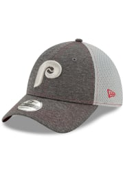 New Era Philadelphia Phillies Grey JR STH Neo 39THIRTY Youth Flex Hat