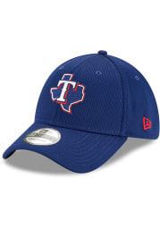 New Era Texas Rangers Mens Blue 2020 Clubhouse 39THIRTY Flex Hat