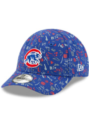 New Era Chicago Cubs Baby Pattern 9FORTY Adjustable Hat - Blue