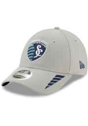 New Era Sporting Kansas City Grey JR Rush 9FORTY Youth Adjustable Hat