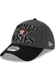 New Era Houston Astros Mens Charcoal 2019 AL Champs LR 39THIRTY Flex Hat