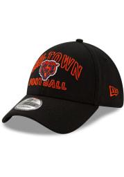New Era Chicago Bears Mens Black NFL20 Draft Alt 39THIRTY Flex Hat