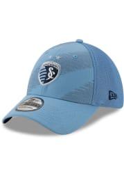 New Era Sporting Kansas City Mens Light Blue 2020 Jersey Hook 39THIRTY Flex Hat
