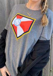 New Era Wichita Wind Surge Grey Plate Logo Short Sleeve T Shirt