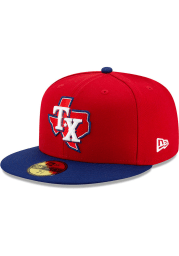 New Era Texas Rangers Mens Red AC Alt 3 59FIFTY Fitted Hat