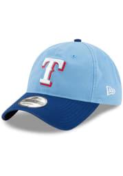 New Era Texas Rangers Alt 2 Core Classic 9TWENTY Adjustable Hat - Light Blue