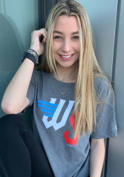 New Era Wichita Wind Surge Grey Winged Letters Short Sleeve T Shirt