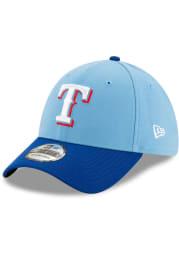 New Era Texas Rangers Mens Light Blue Team Classic 39THIRTY Flex Hat