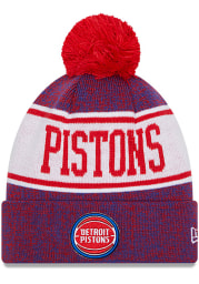 New Era Detroit Pistons Blue Banner Mens Knit Hat