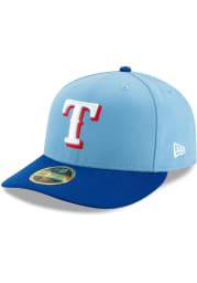 New Era Texas Rangers Mens Light Blue 2T Alt 2 AC LP59FIFTY Fitted Hat