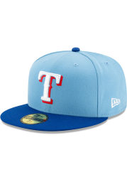 New Era Texas Rangers Light Blue 2T Alt 2 AC JR 59FIFTY Youth Fitted Hat