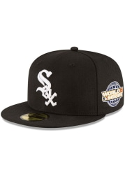 New Era Chicago White Sox Mens Black 2005 World Series Side Patch 59FIFTY Fitted Hat