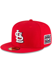 New Era St Louis Cardinals Mens Red 2006 World Series Side Patch 59FIFTY Fitted Hat