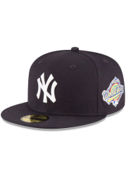 New Era New York Yankees Mens Navy Blue 1996 World Series Side Patch 59FIFTY Fitted Hat