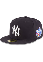 New Era New York Yankees Mens Navy Blue 1998 World Series Side Patch 59FIFTY Fitted Hat