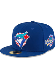 New Era Toronto Blue Jays Mens Blue 1993 World Series Side Patch 59FIFTY Fitted Hat
