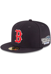 New Era Boston Red Sox Mens Navy Blue 2004 World Series Side Patch 59FIFTY Fitted Hat