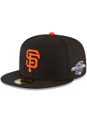New Era San Francisco Giants Mens Black 2002 World Series Side Patch 59FIFTY Fitted Hat