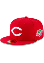 New Era Cincinnati Reds Mens Red 1990 World Series Side Patch 59FIFTY Fitted Hat