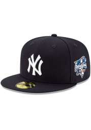 New Era New York Yankees Mens Navy Blue 2000 World Series Side Patch 59FIFTY Fitted Hat