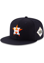 New Era Houston Astros Mens Navy Blue 2017 World Series Side Patch 59FIFTY Fitted Hat