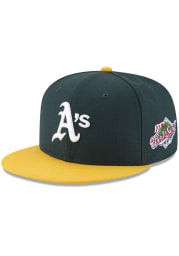 New Era Oakland Athletics Mens Green 1989 World Series Side Patch 59FIFTY Fitted Hat
