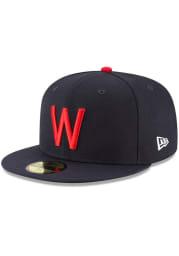 New Era Washington Nationals Mens Navy Blue Washington Senators Cooperstown Fitted Hat