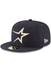 New Era Houston Astros Mens Navy Blue Cooperstown 59FIFTY Fitted Hat