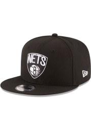New Era Brooklyn Nets Black Basic 9FIFTY Mens Snapback Hat