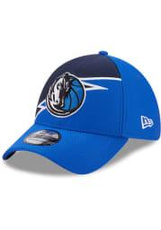 New Era Dallas Mavericks Blue JR Bolt 39THIRTY Youth Flex Hat