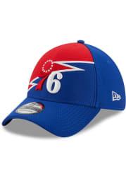 New Era Philadelphia 76ers Blue JR Bolt 39THIRTY Youth Flex Hat