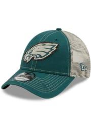 New Era Philadelphia Eagles Green JR Rugged 9FORTY Youth Adjustable Hat