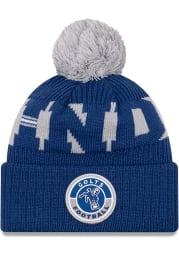 New Era Indianapolis Colts Blue 2020 Retro Sideline Sport Mens Knit Hat