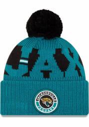 New Era Jacksonville Jaguars Teal 2020 Sideline Sport Mens Knit Hat