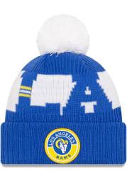 New Era Los Angeles Rams Blue 2020 Sideline Sport Mens Knit Hat