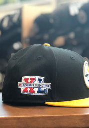 New Era Pittsburgh Steelers Mens Black Super Bowl XL Side Patch 59FIFTY Fitted Hat