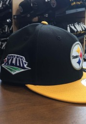 New Era Pittsburgh Steelers Mens Black Super Bowl XLIII Side Patch 59FIFTY Fitted Hat