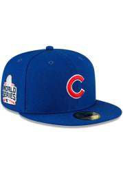 New Era Chicago Cubs Mens Blue QT World Series Side Patch 59FIFTY Fitted Hat