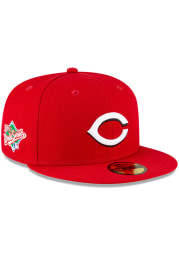 New Era Cincinnati Reds Mens Red QT World Series Side Patch 59FIFTY Fitted Hat
