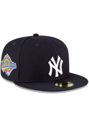 New Era New York Yankees Mens Navy Blue QT World Series Side Patch 59FIFTY Fitted Hat