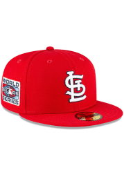 New Era St Louis Cardinals Mens Red QT World Series Side Patch 59FIFTY Fitted Hat