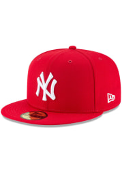 New Era New York Yankees Mens Red Basic 59FIFTY Fitted Hat