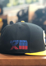 New Era Pittsburgh Steelers Mens Black Super Bowl XIII Side Patch 59FIFTY Fitted Hat