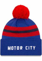 New Era Detroit Pistons Blue 2020 Official City Series Cuff Mens Knit Hat